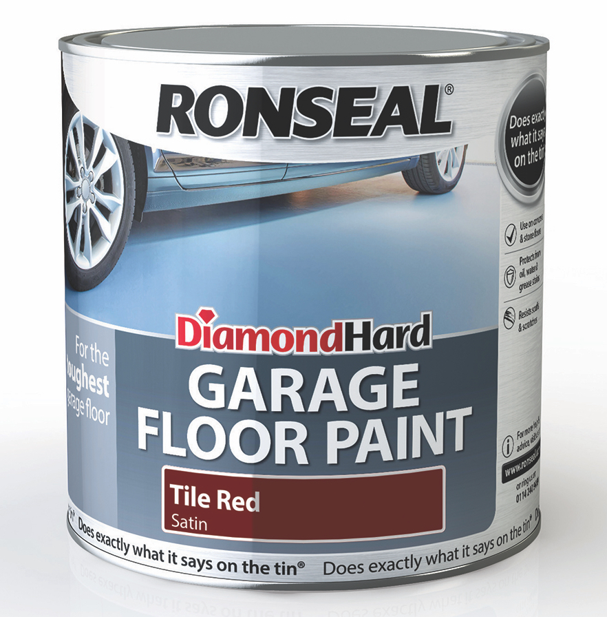 Ronseal 2.5l Diamond Hard Garage Floor Paint - Tile Red