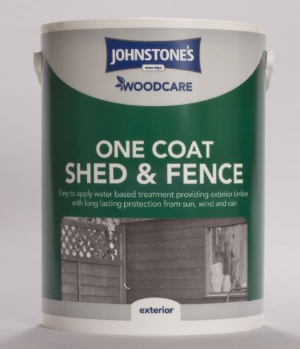 5ltr - Johnstone's Woodcare One Coat Shed & Fence Gold Chestnut