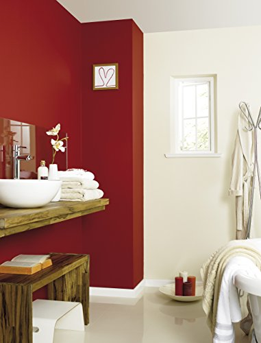 Johnstone's 303956 2.5 Litre Kitchen And Bathroom Emulsion Paint - Hot Cherry