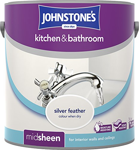 Johnstone's 303962 2.5 Litre Kitchen And Bathroom Emulsion Paint - Silver Feather