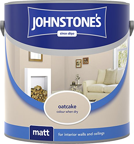 Johnstone's 304027 2.5 Litre Matt Emulsion Paint - Oatcake