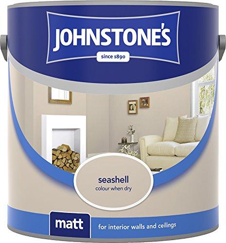 Johnstone's 304031 2.5 Litre Matt Emulsion Paint - Seashell