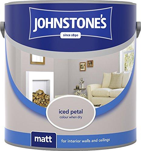 Johnstone's 304039 2.5 Litre Matt Emulsion Paint - Iced Petal