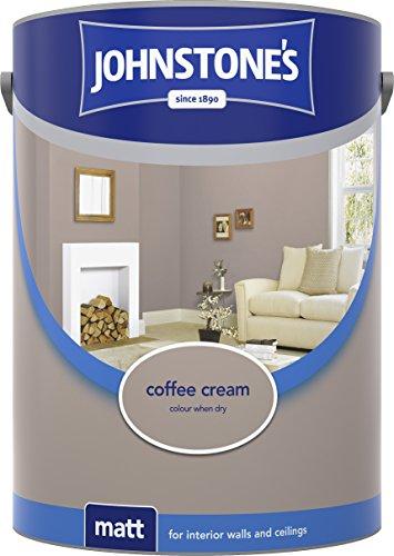 Johnstone's 304050 5 Litre Matt Emulsion Paint - Coffee Cream