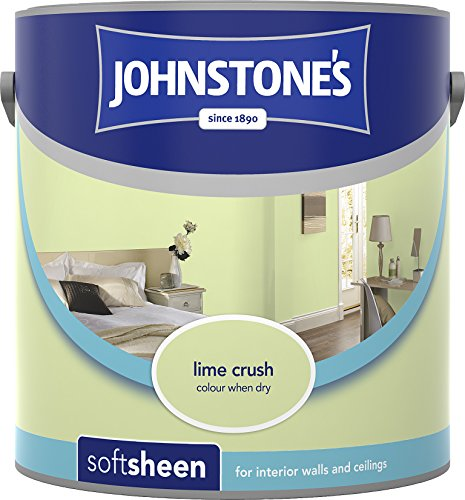 Johnstone's 305987 2.5 Litre Soft Sheen Emulsion Paint - Lime Crush