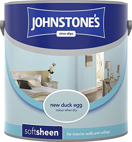 Johnstone's 305988 2.5 Litre Soft Sheen Emulsion - Duck Egg