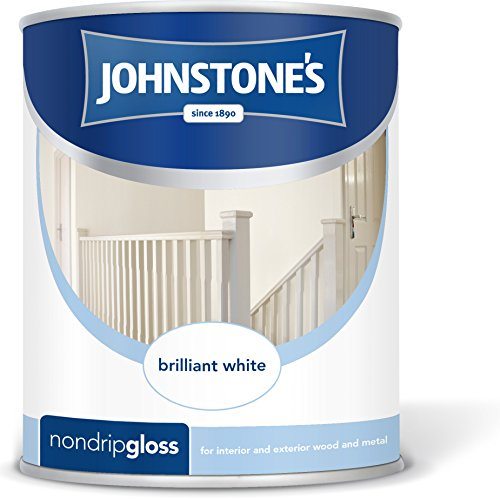 Johnstone's 306532 250ml Non Drip Gloss Paint - Brilliant White