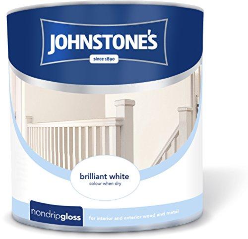 Johnstone's 306535 2.5 Litre Non Drip Gloss Paint - Brilliant White