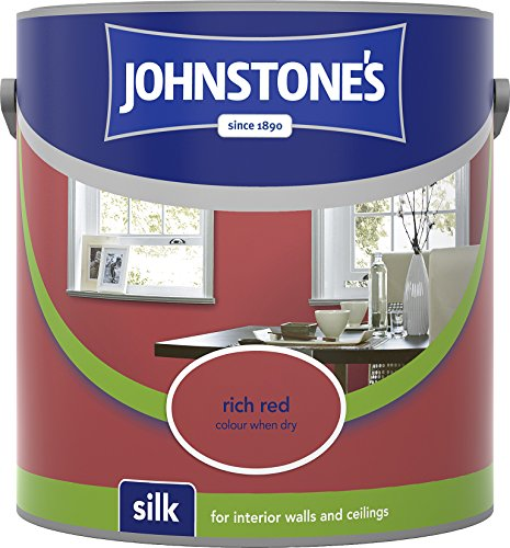 Johnstone's 306585 2.5 Litre Silk Emulsion Paint - Rich Red