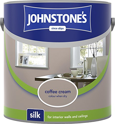 Johnstone's 306594 2.5 Litre Silk Emulsion Paint - Coffee Cream