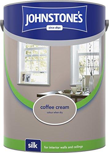 Johnstone's 306597 5 Litre Silk Emulsion Paint - Coffee Cream
