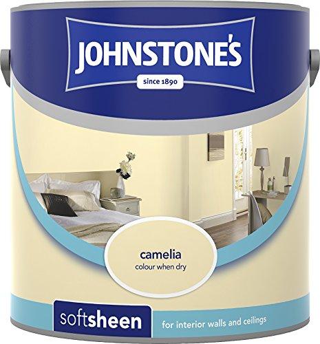 Johnstone's 307085 2.5 Litre Soft Sheen Emulsion Paint - Camellia