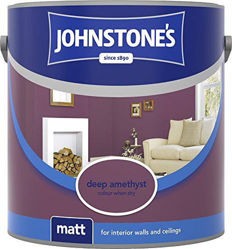 Johnstone's 307093 2.5 Litre Matt Emulsion Paint - Deep Amethyst