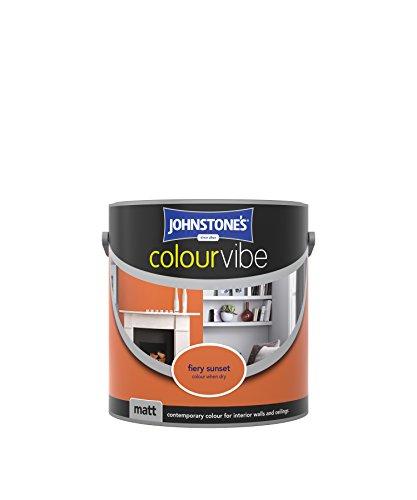 Johnstone's 307108 2.5 Litre Colour Vibe Emulsion Paint - Fiery Sunset