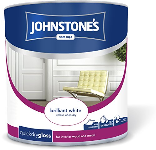 Johnstone's 307550 2.5 Litre Quick Drying Gloss Paint - Brilliant White