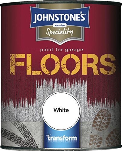 Johnstone's 307949 2.5 Litre Garage Floor Paint - White