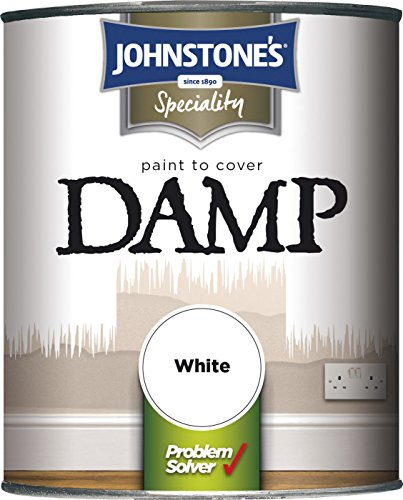 Johnstone's 307956 2.5 Litre Paint To Cover Damp - White