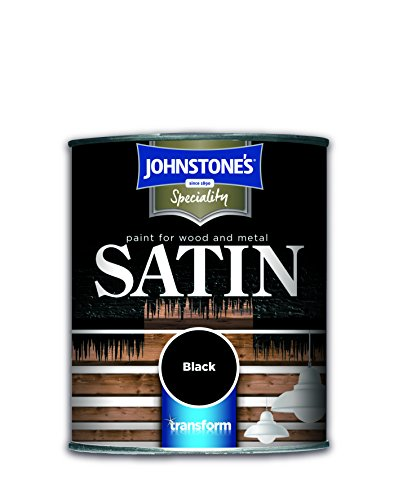 Johnstone's 250ml Paint For Wood And Metal - Satin Black