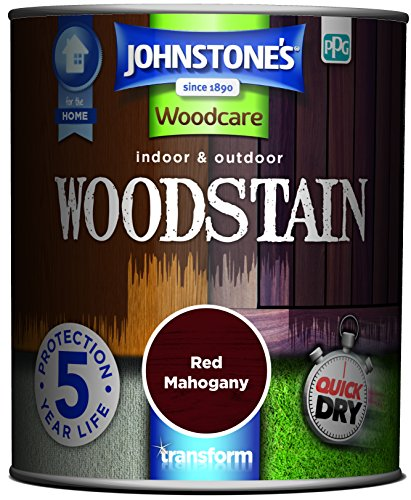 Johnstone's 309319 750ml Woodcare Indoor & Outdoor Woodstain - Red Mahogany