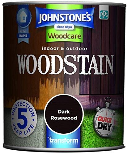 Johnstone's 309321 750ml Woodcare Indoor & Outdoor Woodstain - Dark Rosewood