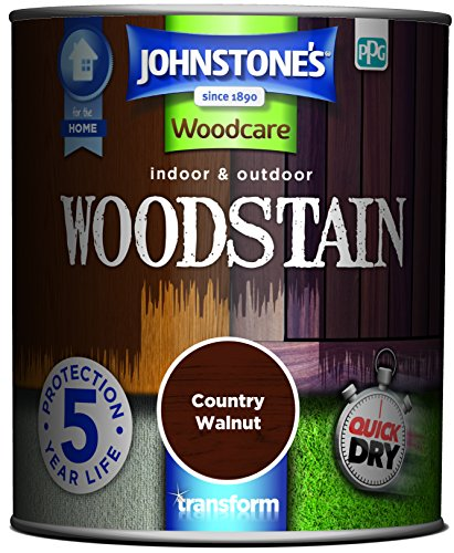 Johnstone's 309322 750ml Woodcare Indoor & Outdoor Woodstain - Country Walnut