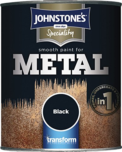 Johnstone's 358683 750ml Smooth Paint For Metal - Black
