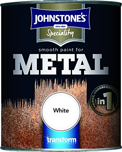 Johnstone's 358684 750ml Smooth Paint For Metal - White