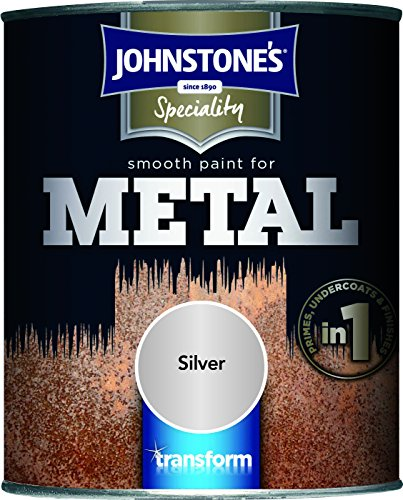 Johnstone's 358685 750ml Smooth Paint For Metal - Silver