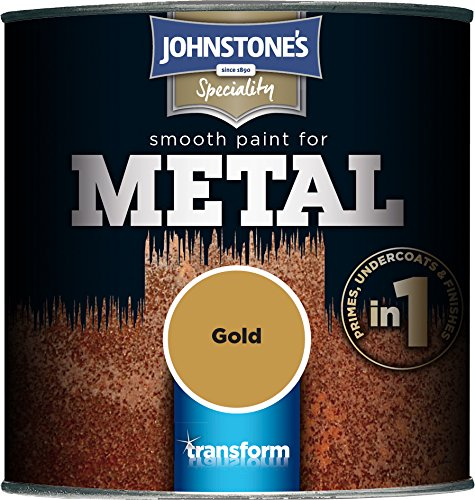 Johnstone's 358686 250ml Smooth Paint For Metal - Gold