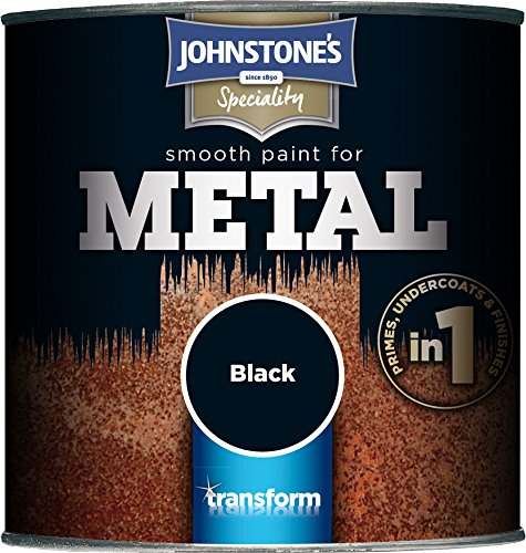 Johnstone's 358687 250ml Smooth Paint For Metal - Black