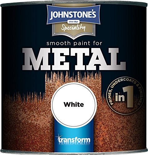 Johnstone's 358688 250ml Smooth Paint For Metal - White