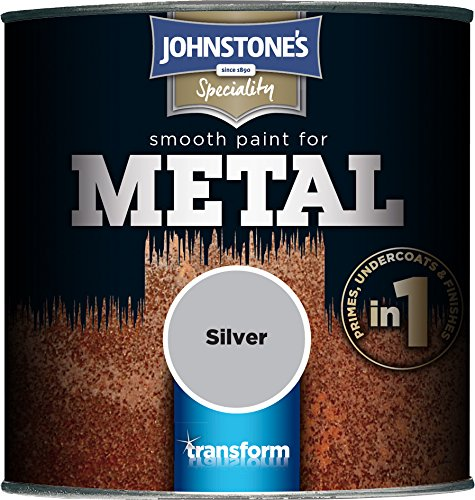 Johnstone's 358689 250ml Smooth Paint For Metal - Silver