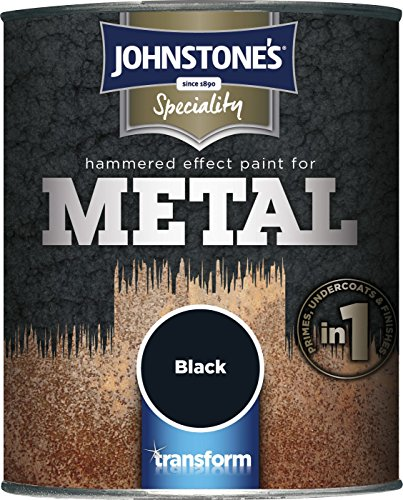 Johnstone's 739185 750ml Hammered Effect Paint For Metal - Black