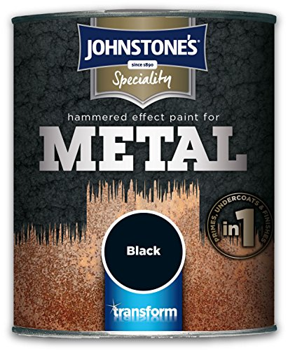 Johnstone's 739186 750ml Hammered Effect Paint For Metal - Silver
