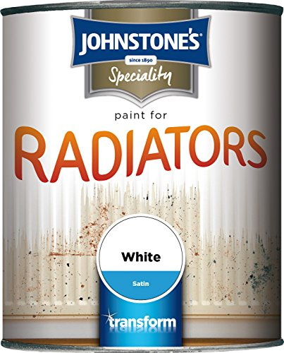 Johnstone's 739189 250ml Satin Paint For Radiators - Brilliant White