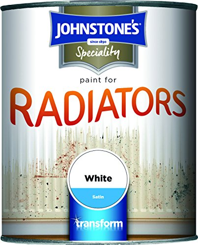 Johnstone's 739190 750ml Satin Paint For Radiators - Brilliant White