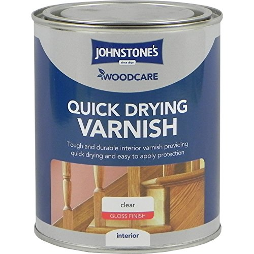 Johnstones Woodcare Quick Drying Interior Varnish Gloss Clear 750ml