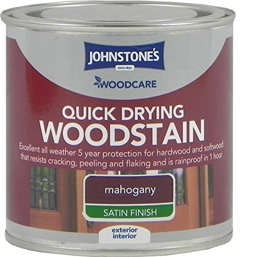 Johnstones Woodcare Quick Drying Interior/exterior Woodstain Mahogany 250ml