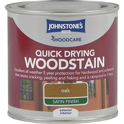Johnstones Woodcare Quick Drying Interior/exterior Woodstain Oak 250ml