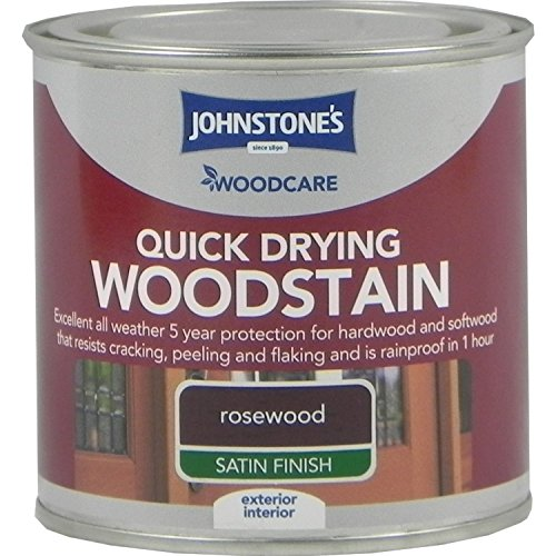 Johnstones Woodcare Quick Drying Interior/Exterior Woodstain Rosewood 250ml