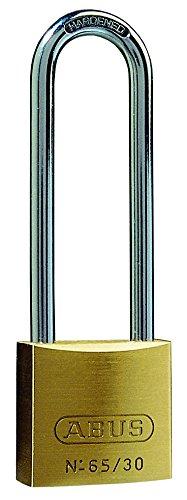 Abus 65/30mm Brass Padlock 60mm Long Shackle