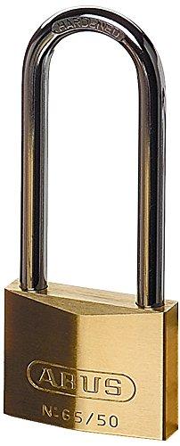 Abus 65/50mm Brass Padlock 80mm Long Shackle