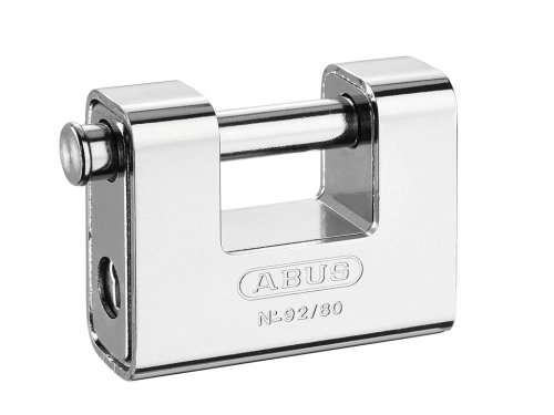 ABUS Mechanical 92/80 80mm Monoblock Brass Body Shutter Padlock