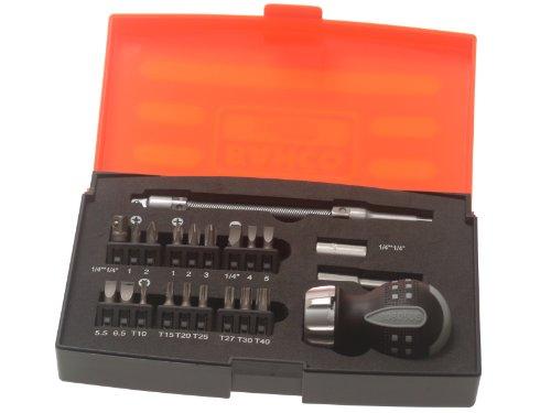 Bahco 808050S-22 Stubby Ratchet Screwdriver Set of 22