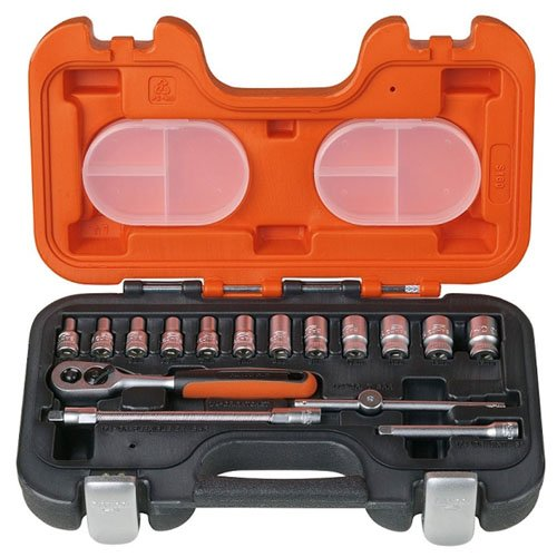 Bahco S160 Socket Set of 16 Metric & AF 1/4in Drive