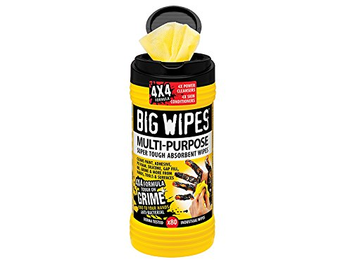 Big Wipes 4x4 Multi-Purpose Cleaning Wipes Tub of 80