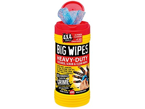 Big Wipes 4x4 Heavy-Duty Cleaning Wipes Tub of 80