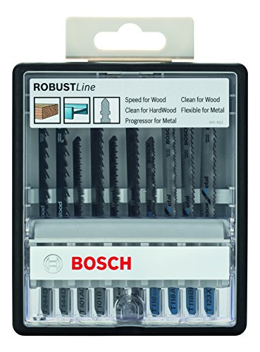 Bosch Robust Line Wood And Metal Jigsaw Blade Set, 10 Pieces