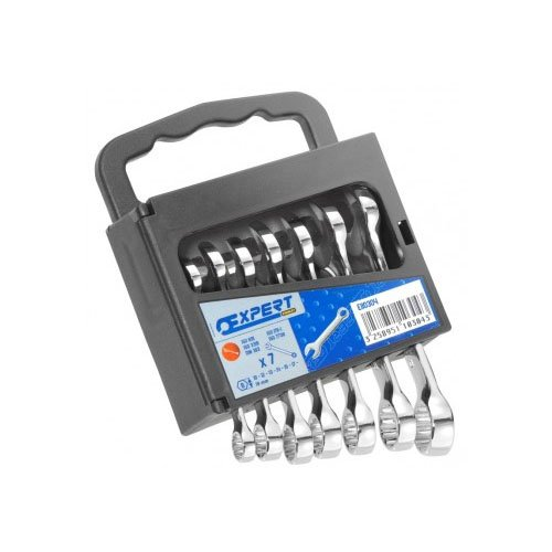 Britool Metric Combination Stubby Spanner Set 7 Piece