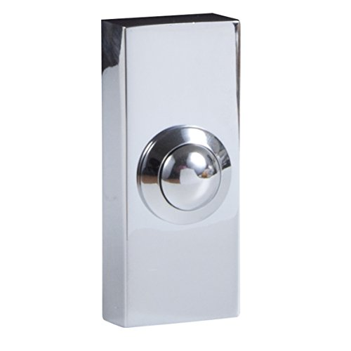 Byron Wired Doorbell Additional Chime Bell Push Chrome